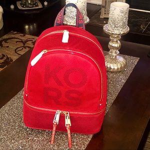 NWT MK Medium Size Red Backpack